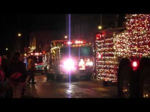 2013 Sun Prairie Christmas Tree Lighting -- 4 of 5 -- Fire Truck Parade