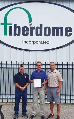 American Legion Citation of Appreciation Award Presented to Fiberdome