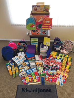 Edward Jones Holds School Supply Drive