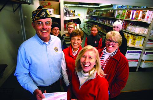 Emergency Food Pantry receives a grand from Legion