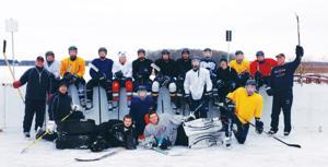 Outdoor hockey rink