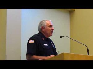 Fire Chief explains fire truck purchase -- 8-23-2016