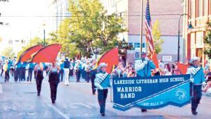Lakeside Lutheran Warrior Band Wins Parade Awards