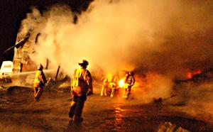 Shed fire on Schumacher Road