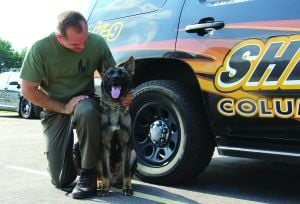 Deputy Kris Behling and K9 Recon