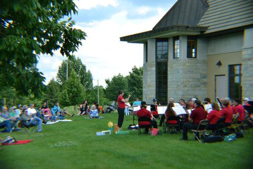 Community band brings summer melodies to library, Cannery Square
