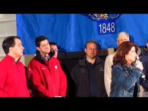 Walker, Ryan, Kleefisch rally at Brooks Tractor 11-3-2014