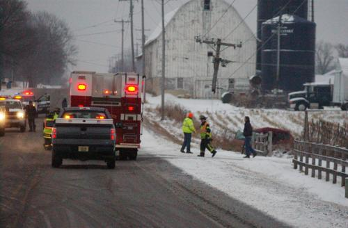 Accident, Downed wires closes HWY K