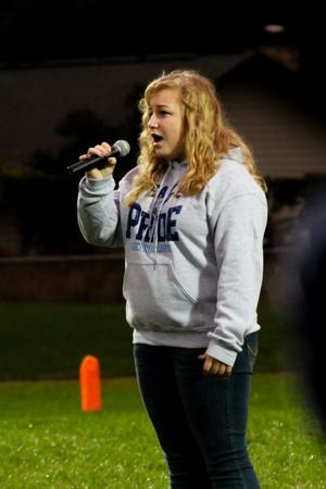 Singing for the home crowd