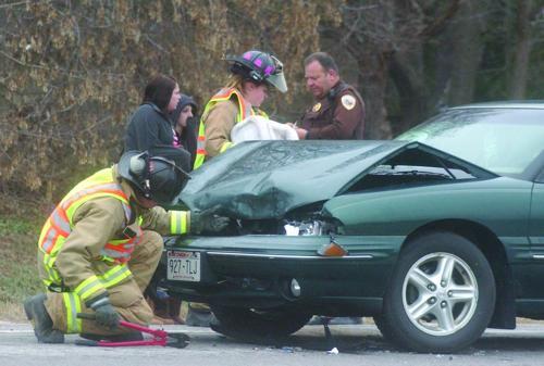 Firefighters respond to smoking car