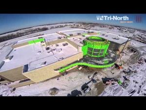 Marcus Palace Cinema Construction Aerial: February 26, 2015