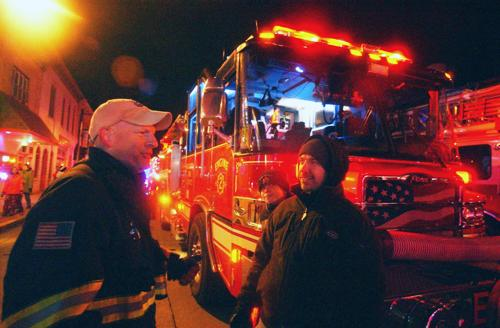 Fire truck parade features holiday safety