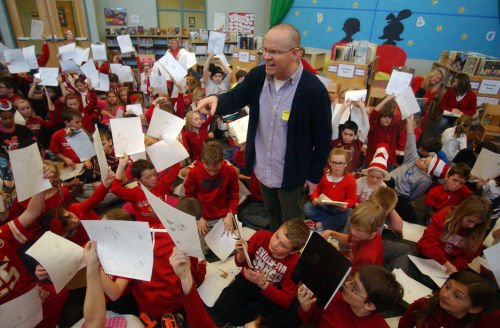 Stick Dog author Tom Watson visits schools