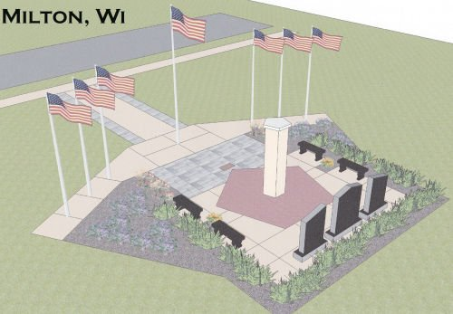 Brick by brick: Milton's Veterans Park monument moving along