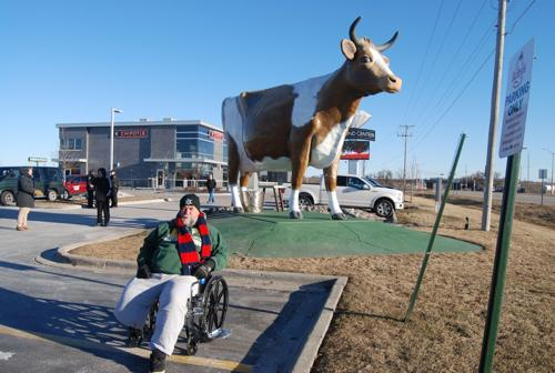 Lambeau Field:  170 miles  by wheelchair