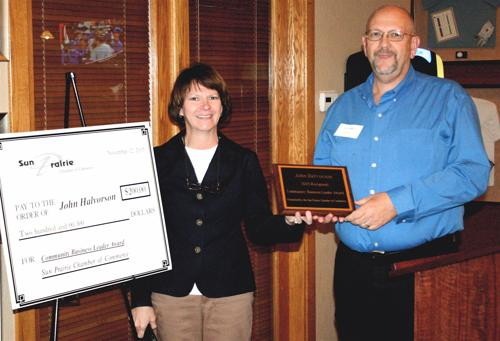 Halvorson receives business leader award (with video)