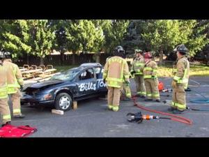 SPVFD Open House -- How firefighters enter crash scene vehicles -- Oct. 12, 2014