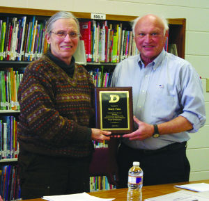 Paulson and Palus recognized for years of service