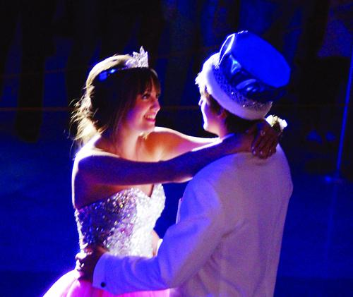 Rachel Schrode and Hans Heppner are Prom royalty