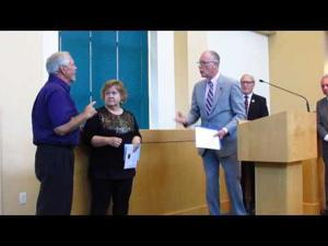 Dennis Allen honored at council meeting -- Aug. 2, 2016