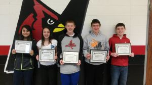 Marshall students of the month