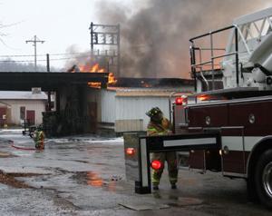 Flames at Bailey Farms