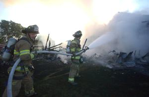 House fire in the Town of Burke