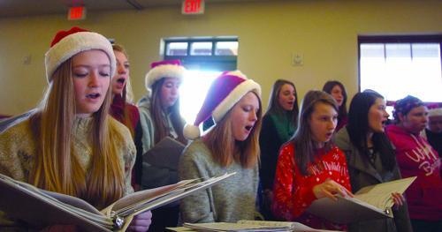 Singing at Senior Center