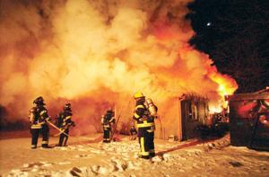CG Arson fire