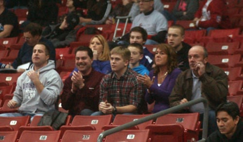 Statz family support Bryce at state wrestling