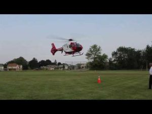 UW Health's Med Flight lands in McFarland for Dane County's National Night Out