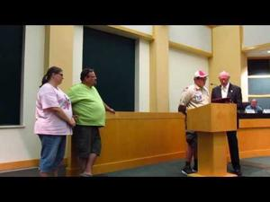 Mayor presents Eagle Scout proclamation -- 9-20-2016