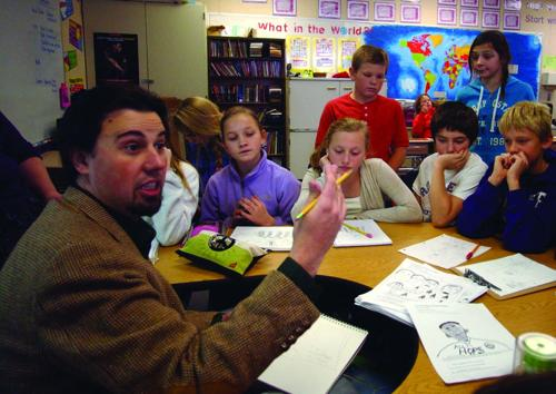 Cartoonist visits Intermediate