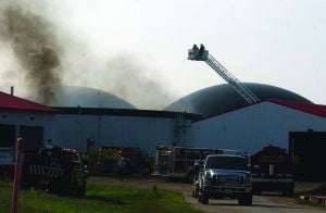 Roof burns at Digester