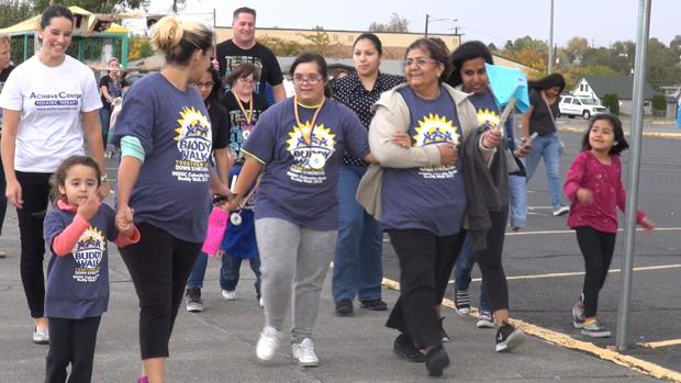 Hundreds of people turn out for annual Buddy Walk