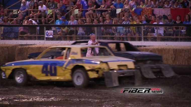 A Lot Of Cars Got Smashed At The Demo Derby At Grant