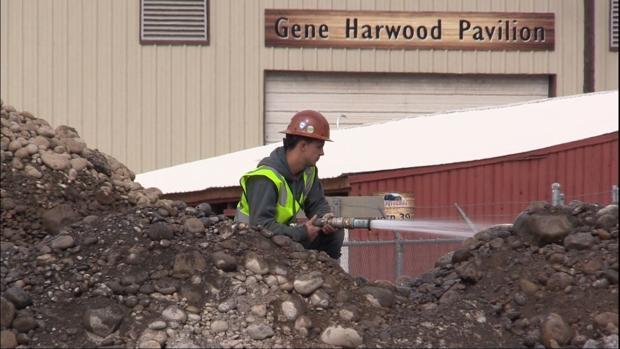 Construction on fairgrounds sewer connection is underway