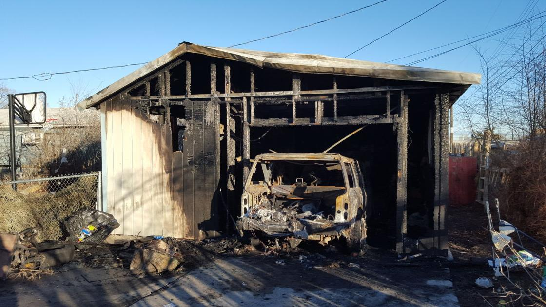 Separate garage suv destroyed by fire in moses lake on for Separate garage