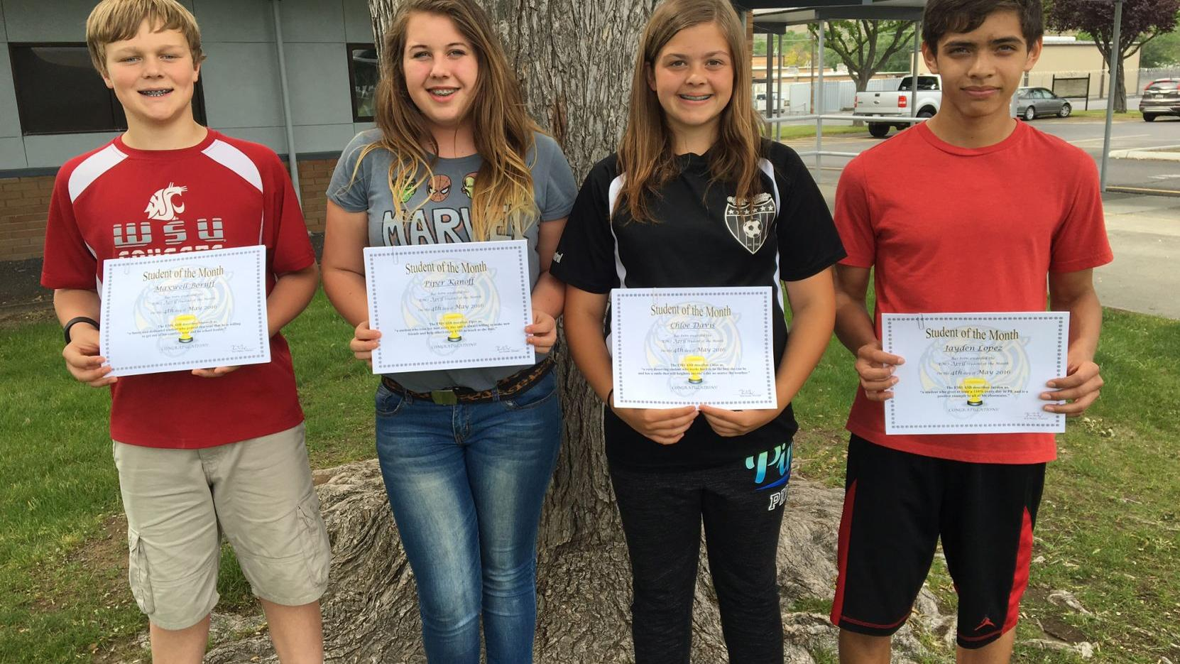 Ephrata Middle School names Students of the Month for ...
