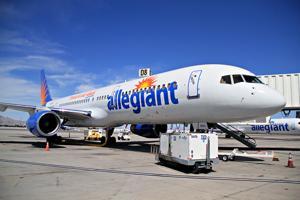 Allegiant Air landing in Concord