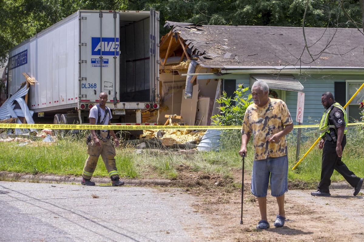 Tractor trailer hits house state for House hits 88