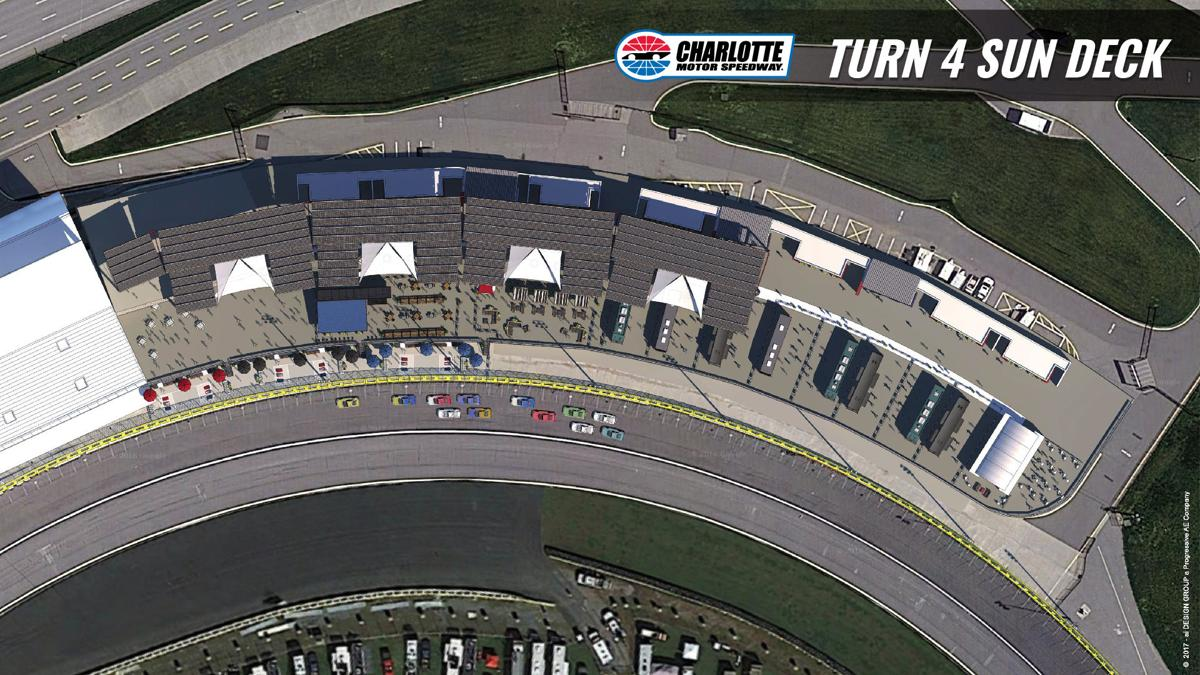 Charlotte motor speedway creating sundeck in fourth turn for Charlotte motor speed way