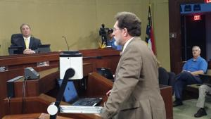 N.C. Rep. Larry Pittman addresses the Cabarrus Commissioners