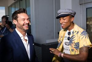 Ryan Seacrest and Pharrell Williams at the Cannes Lions Festival