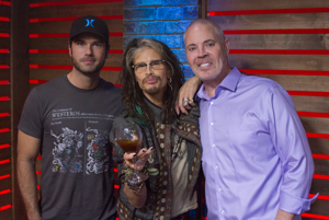 Steven Tyler with Chuck Wicks and Blair Garner at the NASH Campus