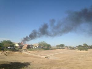 Military aircraft crashes into houses in Imperial