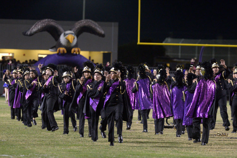 Central Union And Southwest High School Bands Perform On