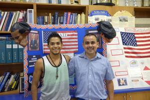 Alonzo Mata (left) and Jose Flores
