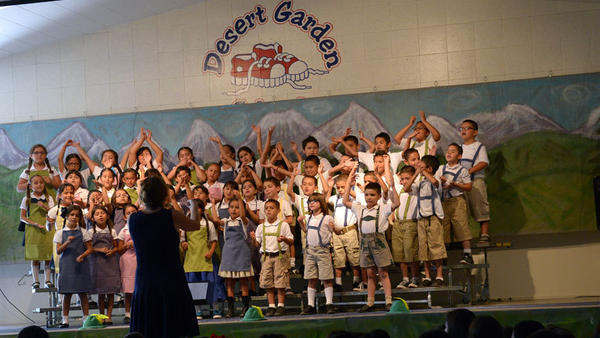 students 39 love of music singing displayed at desert garden elementary school 39 s concert news