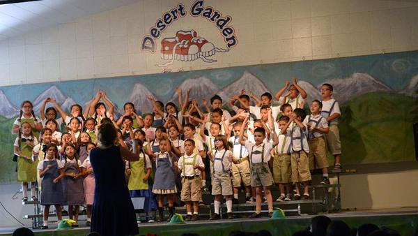 Students 39 love of music singing displayed at desert garden elementary school 39 s concert news for Garden valley elementary school